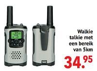 Walkie talkie met een bereik van 5km-Huismerk - Multi Bazar