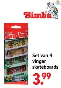 Set van 4 vinger skateboards-Simba