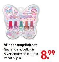 Vlinder nagellak set-Huismerk - Multi Bazar