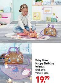 Baby born happy birthday luiertas-Baby Born