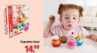 Cupcakes hout-Hape