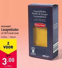 Lasagnebladen-Pasta Mare