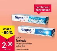 Tandpasta-Signal