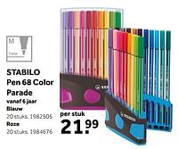 Stabilo pen 68 color parade blauw-Stabilo