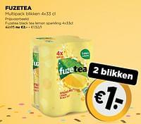 Fuzetea black tea lemon sparkling-FuzeTea