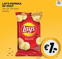 Lay's paprika of zout-Lay