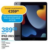 Apple ipad 2021 wifi 64gb-Apple