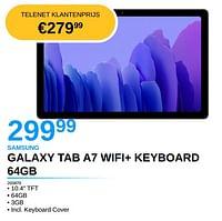 Samsung galaxy tab a7 wifi+ keyboard 64gb-Samsung
