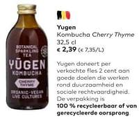 Yugen kombucha cherry thyme-Yügen