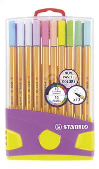 STABILO viltstift Point 88 Pastel - 20 stuks-Stabilo