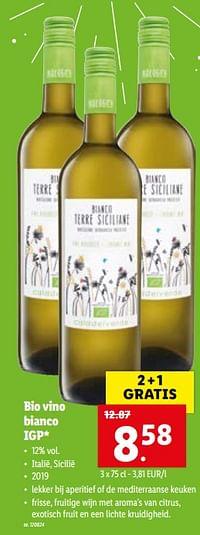 Bio vino bianco igp-Witte wijnen