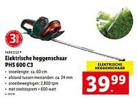 Parkside elektrische heggenschaar phs 600 c3-Parkside