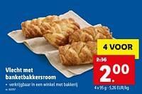 Vlecht met banketbakkersroom-Huismerk - Lidl