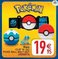 Riem clip 'n' go poké ball belt set-Pokemon