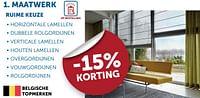 Maatwerk -15% korting-Huismerk - Zelfbouwmarkt
