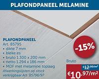 Plafondpaneel-Huismerk - Zelfbouwmarkt