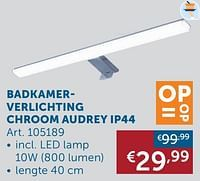 Badkamerverlichting chroom audrey ip44-Huismerk - Zelfbouwmarkt