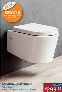 Design hang wc honk-Huismerk - Zelfbouwmarkt