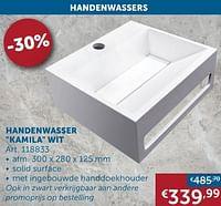 Handenwasser kamila wit-Huismerk - Zelfbouwmarkt