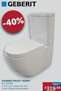 Staande toilet gorik-Geberit