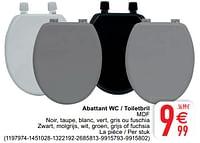 Abattant wc - toiletbril mdf-Huismerk - Cora