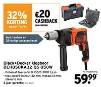 Black+decker klopboor beh850ka32-qs 850w-Black & Decker