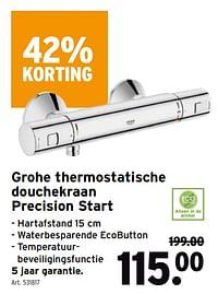 Grohe thermostatische douchekraan precision start-Grohe