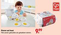 Eieren set hout-Hape