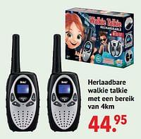 Herlaadbare walkie talkie met een bereik van 4km-Buki France