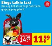 Bings talkie taxi-Huismerk - Kruidvat