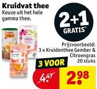 Kruidenthee gember + citroengras-Huismerk - Kruidvat