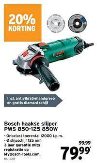 Bosch haakse slijper pws 850-125-Bosch