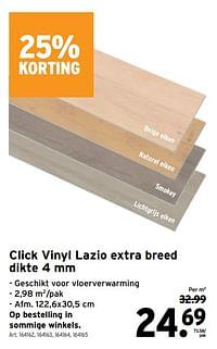 Click vinyl lazio extra breed-Huismerk - Gamma