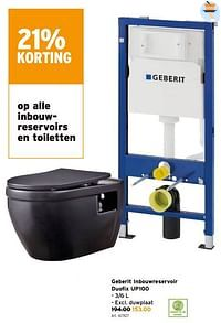 Geberit inbouwreservoir duofix up100-Geberit