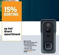 Qnect wifi video deurbel met bewegingsdetectie-Qnect