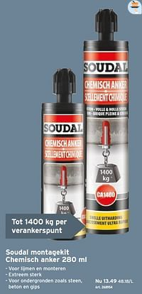 Soudal montagekit chemisch anker-Soudal