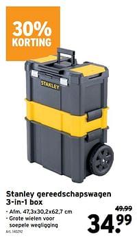 Stanley gereedschapswagen 3-in-1 box-Stanley