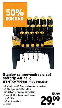 Stanley schroevendraaierset softgrip 44-delig stht0-74958 met houder-Stanley