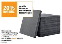 Terrastegel broadway-Huismerk - Gamma