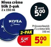 Crème blik-Nivea