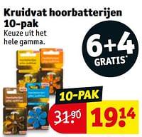 Kruidvat hoorbatterijen-Huismerk - Kruidvat