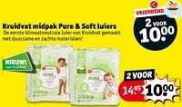 Kruidvat midpak pure + soft luiers-Huismerk - Kruidvat