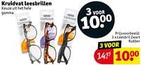 Leesbril zwart rubber-Huismerk - Kruidvat