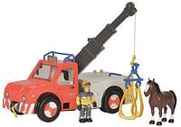 Brandweerman Sam - Phoenix met figuur en paard-Simba