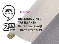 Knegras vinyl tafellaken-Huismerk - Jysk