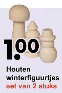 Houten winterfiguurtjes-Huismerk - Wibra