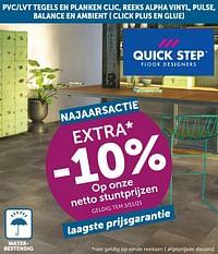 Extra -10% op onze netto stuntprijzen-QuickStep