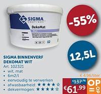 Sigma binnenverf dekomat wit-Sigma