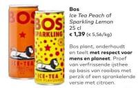 Bos ice tea peach of sparkling lemon-Bos