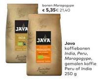 Java bonen maragogype-Java